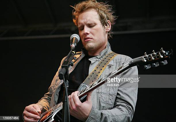 Guitarist Matt Roberts of 3 Doors Down performs on 'FOX and Friends' outside of FOX Studios on July 29 2011 in New York City