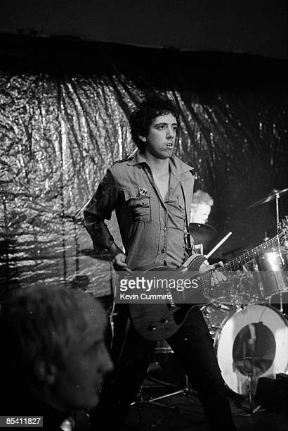 Guitarist Mick Jones on stage with English punk band The Clash at the Electric Circus, Manchester, during the 'White Riot' tour, 8th May 1977.