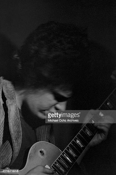 Guitarist Mike Bloomfield of the Butterfield Blues Band performs at the Unicorn in 1965 in Boston Massachusetts