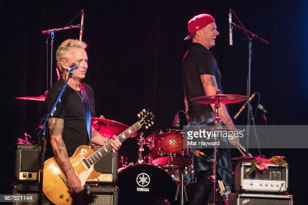 Guitarist Mike McCready of Pearl Jam and drummer Chad Smith of Red Hot Chili Peppers perform on stage during the MusiCares Concert For Recovery...
