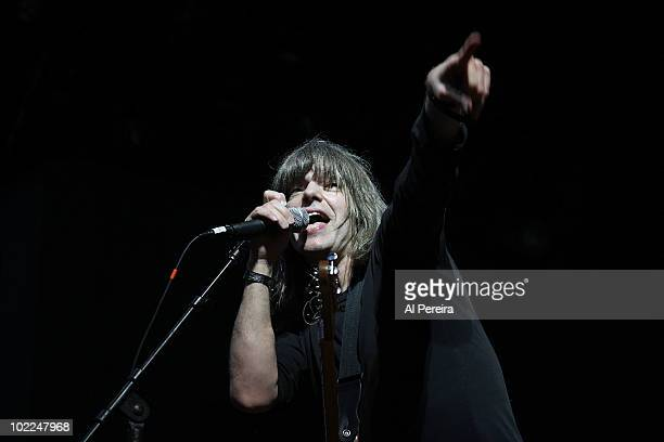 Guitarist Mike Stern of The Mike Stern Band performs as part of the Carefusion Jazz Festival during the 32nd Celebrate Brooklyn Summer Season at the...