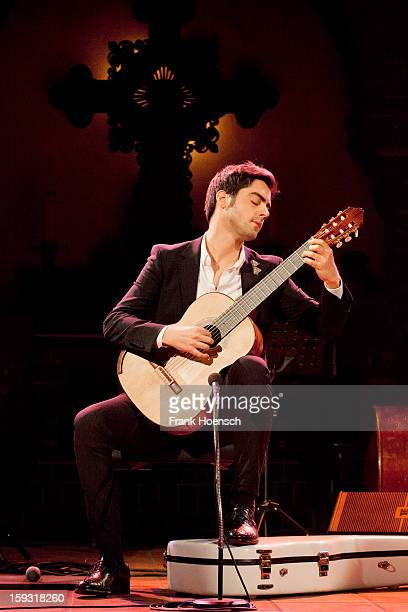 Guitarist Milos Karadaglic performs live during a concert at the Passionskirche on January 11 2013 in Berlin Germany