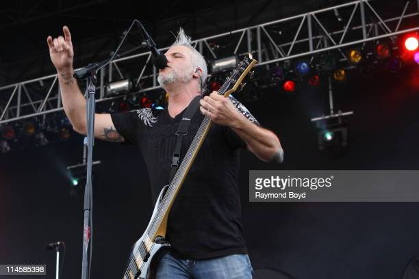 Guitarist Mitch James of Crossfade performs during the 2011 Rock On The Range festival at Crew Stadium on May 21 2011 in Columbus Ohio