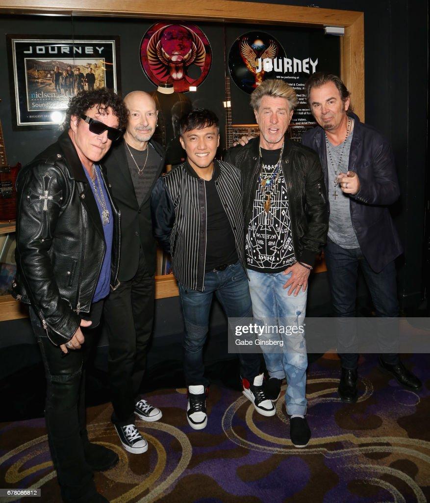 Journey Memorabilia Case Dedications At The Hard Rock : News Photo
