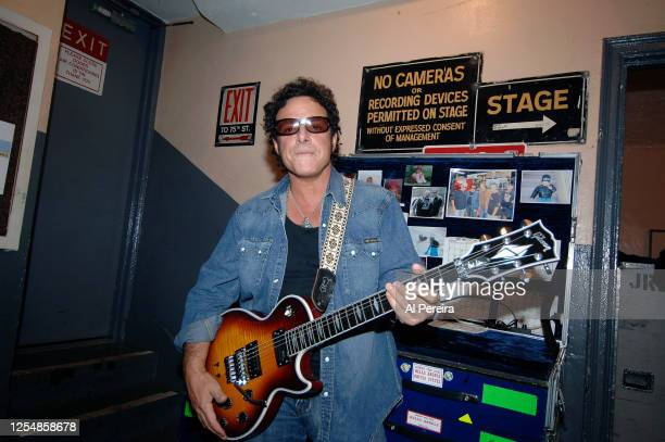 YORKNOVEMBER Guitarist Neal Schon is shown in a backstage portrait when he and Journey perform at The Beacon Theater on November 22 2005 in New York...