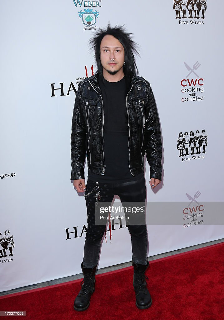 Guitarist Nick Quijano of the Metal Band Powerman 5000 attends the 'Hatchet II' premiere at the American Cinematheque's Egyptian Theatre on June 11, 2013 in Hollywood, California.