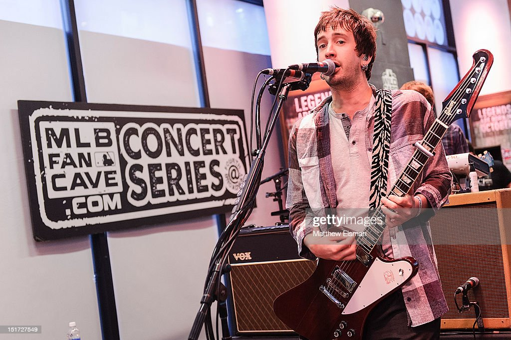Guitarist Nick Wheeler of The All-American Rejects performs live at the MLB Fan Cave on September 10, 2012 in New York City.