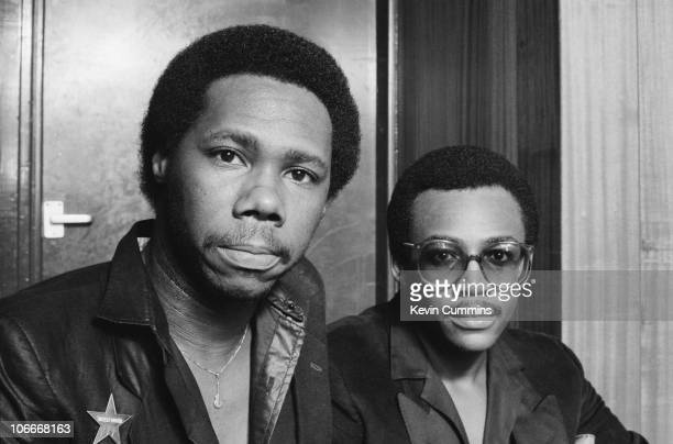 Guitarist Nile Rodgers and bassist Bernard Edwards of American RB band Chic in Manchester 4th October 1979
