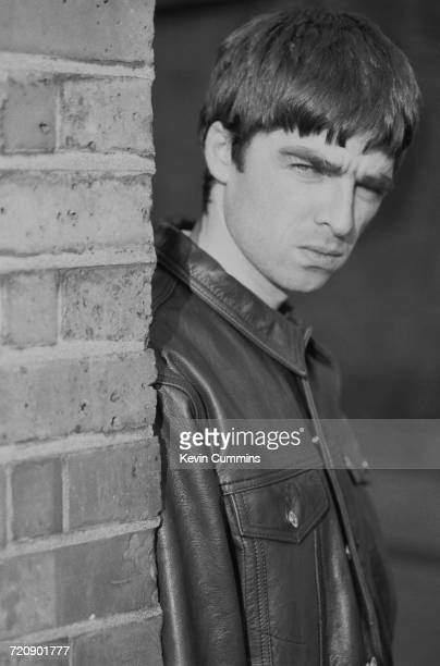 Guitarist Noel Gallagher of Manchester rock band Oasis outside the London offices of the band's record label Creation 21st February 1994 Photo by...