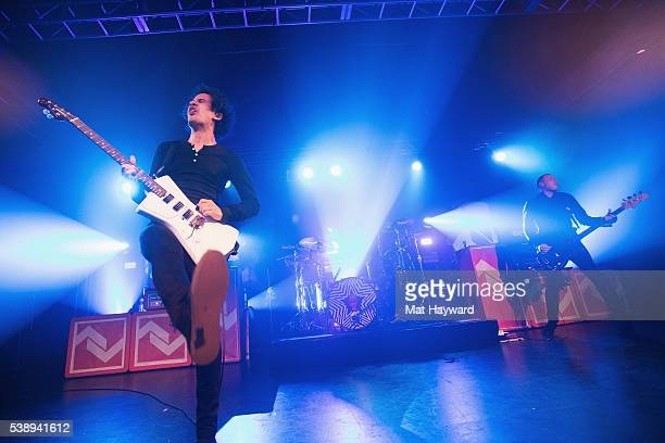 Guitarist Omar Rodriguez Lopez of At The Drive In performs onstage at Showbox SoDo on June 8 2016 in Seattle Washington
