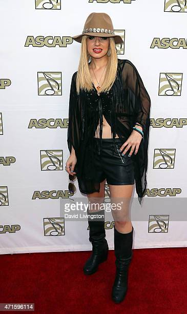 Guitarist Orianthi attends the 32nd Annual ASCAP Pop Music Awards at the Lowes Hollywood Hotel on April 29, 2015 in Hollywood, California.