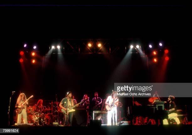 Guitarist Patrick Simmons drummer John Hartman bassist Tiran Porter guitarist Jeff Skunk Baxter and pianist Michael McDonald of the rock and roll...