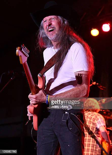 Guitarist Patrick Simmons of The Doobie Brothers performs at the Newport Yachting Center on July 29 2011 in Newport Rhode Island