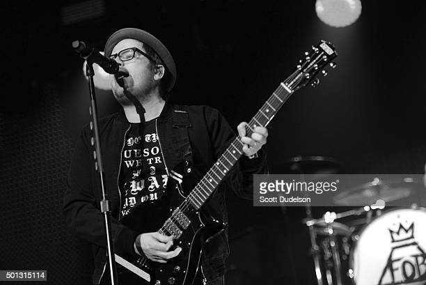 Guitarist Patrick Stump of Fall Out Boy performs onstage at The Forum on December 13, 2015 in Inglewood, California.