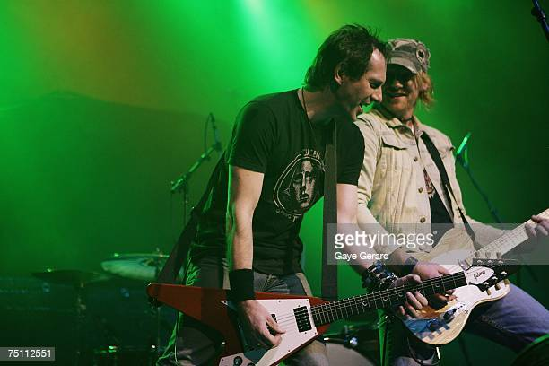 Guitarist Paul Drennan and vocalist Ben Walton of the band Six Hours opens for Alice Cooper in concert at the first Sydney night of his Psycho Drama...