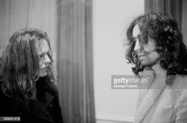 Guitarist Paul Kossoff and singer Paul Rodgers, of English rock group Free, Newcastle, January 1972.