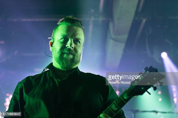 Guitarist Pauli Rantasalmi of The Rasmus performs on stage at SWG3 on October 8, 2019 in Glasgow, Scotland.