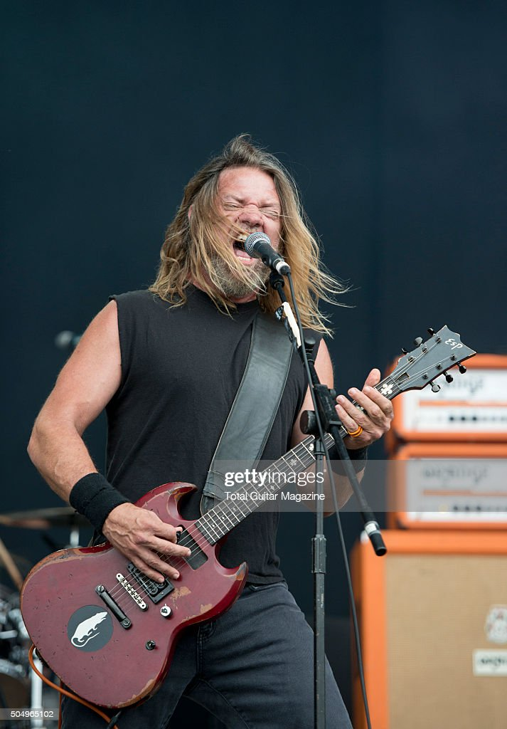 Guitarist Pepper Keenan of American heavy metal group Corrosion of Conformity performing live on the Main Stage at Download Festival, on June 12, 2015.