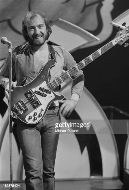 Guitarist Pete Agnew of Scottish rock group Nazareth on the BBC TV music show 'Top Of The Pops' London 8th November 1973 The band are miming to their...