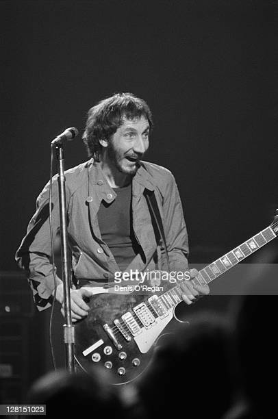 Guitarist Pete Townsend performing with English rock group The Who at Shepperton Studios Surrey 25th May 1978 The concert was performed for the...