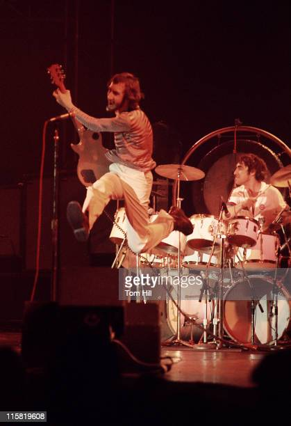 Pete Townshend and Keith Moon of The Who performing onstage