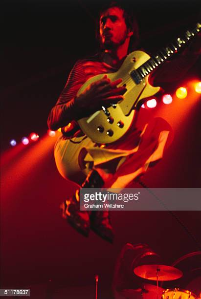 Guitarist Pete Townshend of British rock group The Who on stage at Granby Hall Leicester 18th October 1975