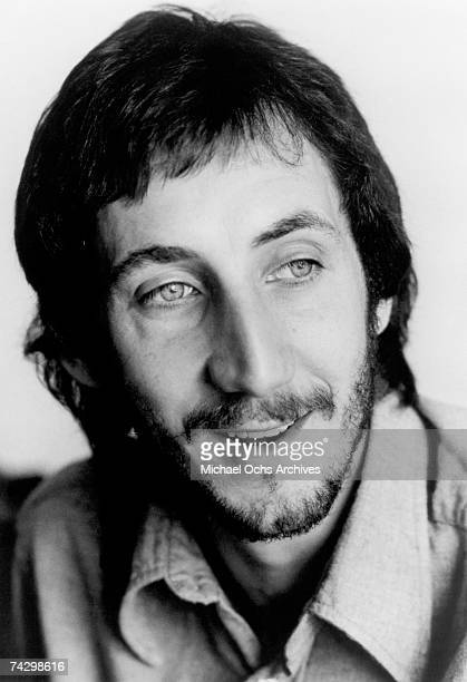 Guitarist Pete Townshend of the rock and roll band The Who poses for a portrait in circa 1975