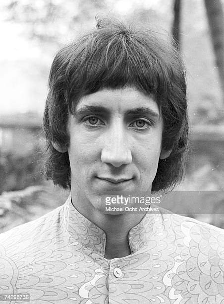 Guitarist Pete Townshend of the rock and roll band 'The Who' poses for a portrait during a session at Griffith Park on February 27 1968 in Los...