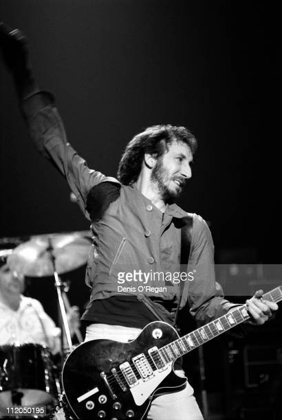 Guitarist Pete Townshend of The Who at Shepperton 1978