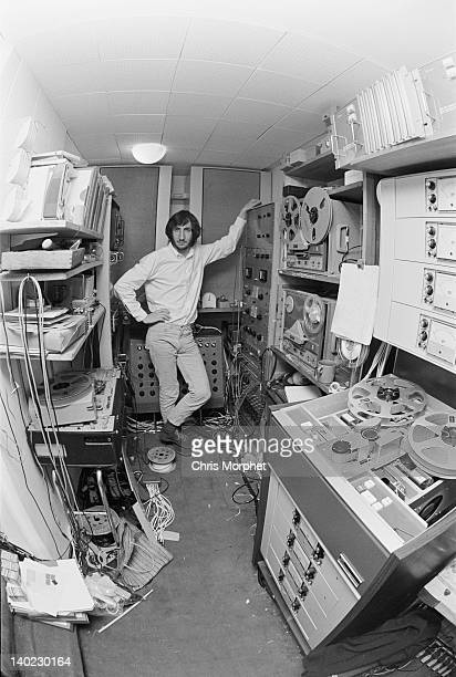Guitarist Pete Townshend of The Who in the recording studio at his home in Twickenham London 1970