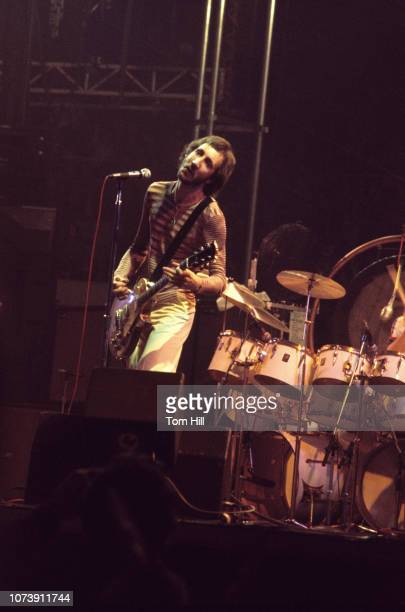 Guitarist Pete Townshend of The Who performs at Murphy Athletic Center of Middle Tennessee State University on November 261975 in Murfreesboro...