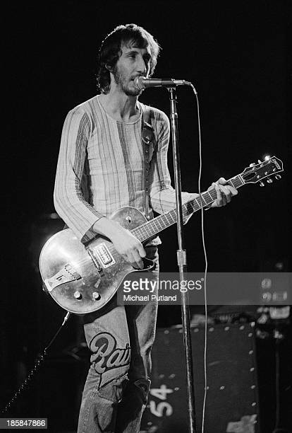 Guitarist Pete Townshend performing with English rock group The Who 24th October 1973