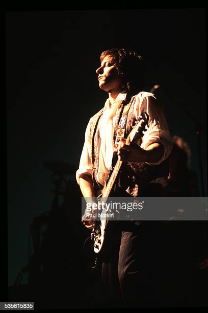 Guitarist Peter Buck of the band REM performs on stage Ames Iowa March 10 1989