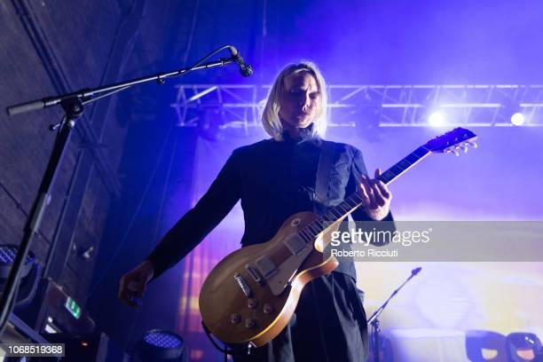 Guitarist Peter Svensson of The Cardigans performs on stage at O2 Academy Glasgow on December 4, 2018 in Glasgow, Scotland.