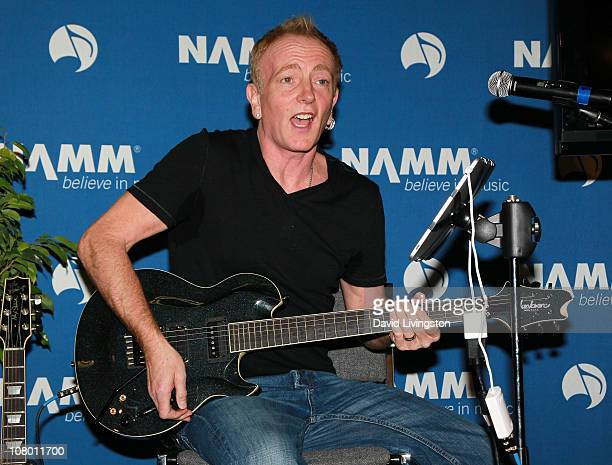 Guitarist Phil Collen attends the 2011 NAMM Show - Day 1 at the Anaheim Convention Center on January 12, 2011 in Anaheim, California.