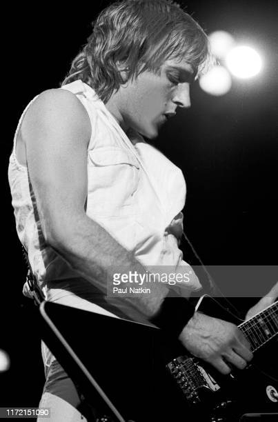 Guitarist Phil Collen of Def Leppard performs on stage at the UIC Pavillion in Chicago, Illinois, April 1, 1983.