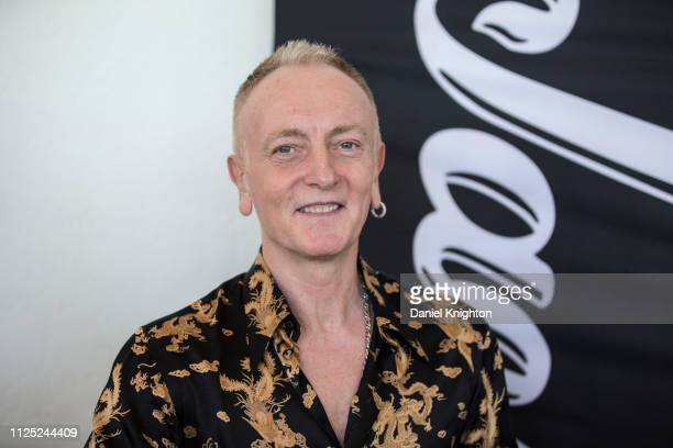 Guitarist Phil Collen of Def Leppard poses at the Jackson Guitars booth during the 2019 NAMM Show at Anaheim Convention Center on January 26, 2019 in...