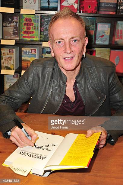 Guitarist Phil Collen signs copies of his book 'Adrenalized: Life, Def Leppard, And Beyond' at Barnes & Noble on October 19, 2015 in Huntington...
