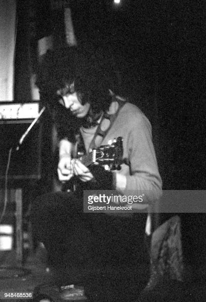 Guitarist Phil Miller of English progressive rock band Hatfield and the North performs on stage Pardiso Amsterdam circa 1974