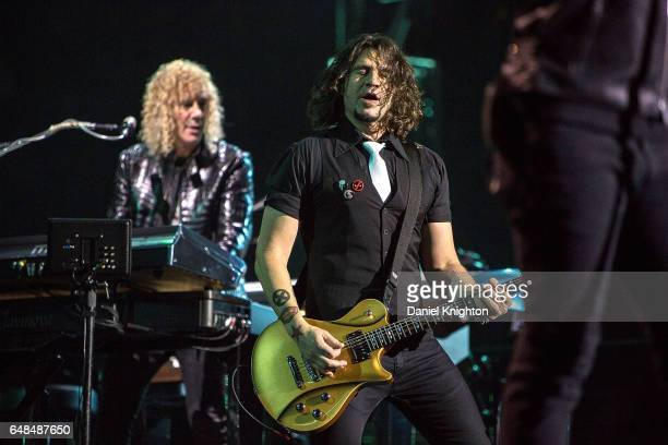 Guitarist Phil X of Bon Jovi performs on stage during the 'This House Is Not For Sale' Tour at Viejas Arena on March 5 2017 in San Diego California