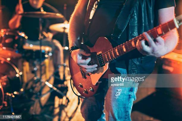 guitarist - heavy metal stock pictures, royalty-free photos & images