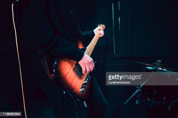 guitarist - classic rock stock pictures, royalty-free photos & images
