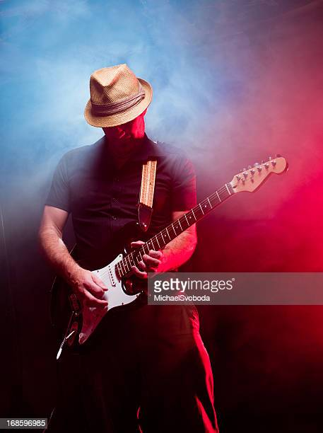 guitarist - blues stock photos and pictures