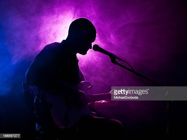 guitarist - blues music stock pictures, royalty-free photos & images