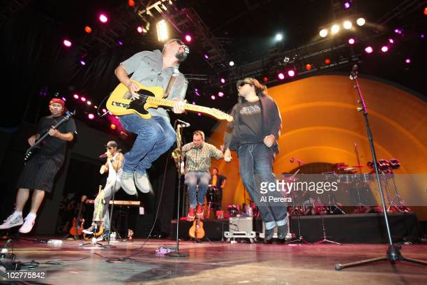 Guitarist Raul Pacheco and his band Ozomalti performs during the 32nd Celebrate Brooklyn Summer Season at Prospect Park Bandshell on July 9 2010 in...