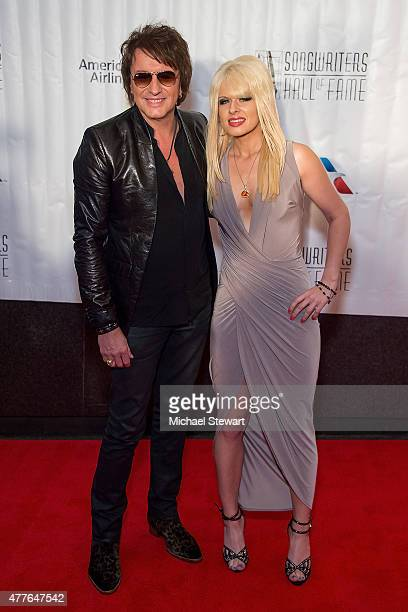 Guitarist Richie Sambora and Orianthi Panagaris attend the Songwriters Hall of Fame 46th Annual Induction and Awards at Marriott Marquis Hotel on...