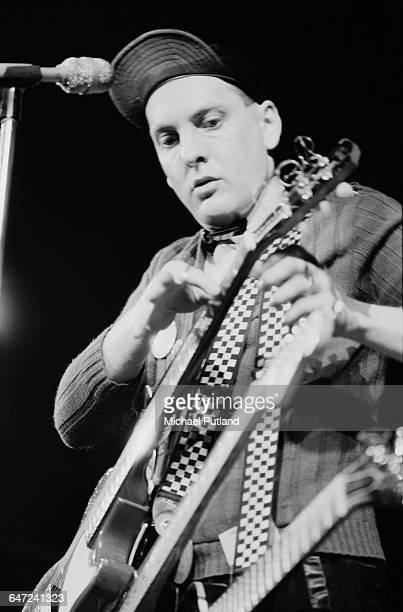 Guitarist Rick Nielsen performing with American rock group Cheap Trick May 1979