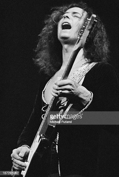 Guitarist Ritchie Blackmore from English rock band Deep Purple performs at the Rainbow Theatre in London 1st July 1972