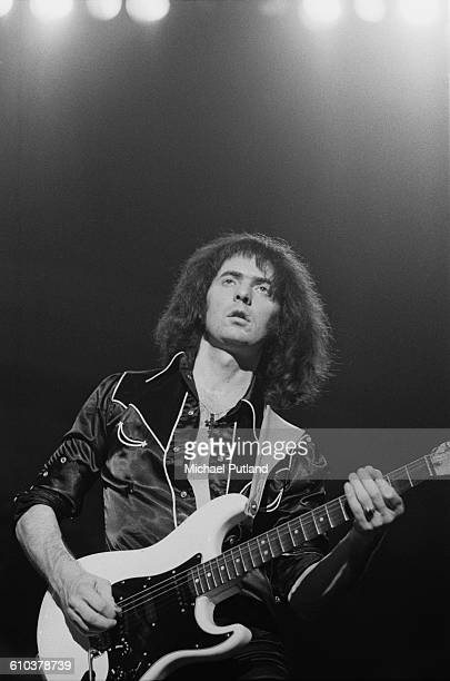 Guitarist Ritchie Blackmore performing with British rock group Rainbow USA May 1978
