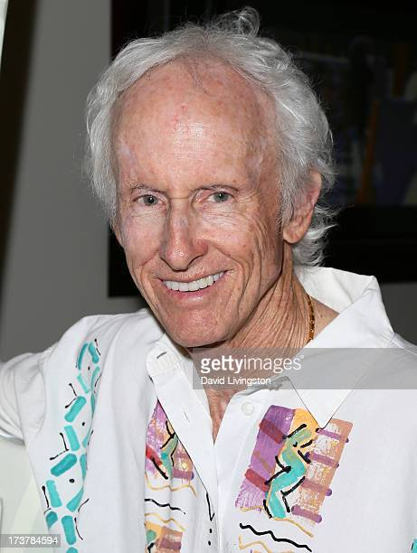 Guitarist Robby Krieger of The Doors attends the 2013 Gibson GuitarTown unveiling of 10foot tall art guitar sculptures at Hornburg Los Angeles on...